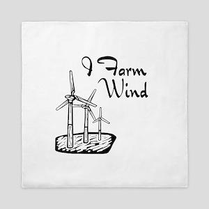 i farm wind with 3 windmills Queen Duvet