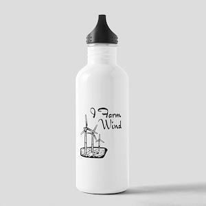 i farm wind with 3 windmills Water Bottle
