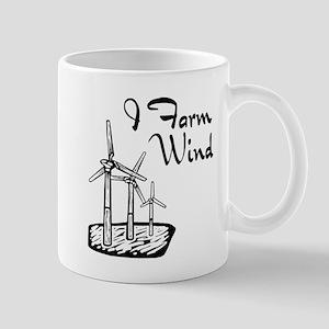 i farm wind with 3 windmills Mugs