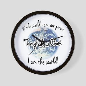 Chow World2 Wall Clock