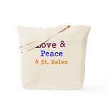 St. Helen Love & Peace Tote Bag
