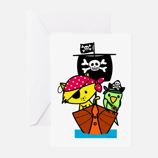 Pirate Ship Greeting Cards (Pk of 10)