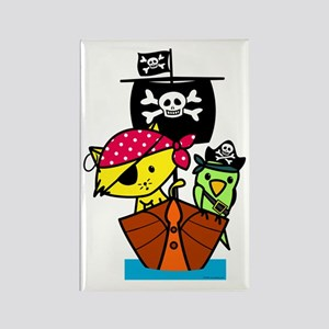 Pirate Ship Rectangle Magnet