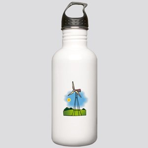 windmill in the country Water Bottle
