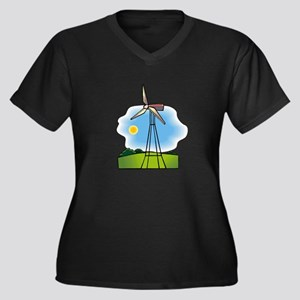 windmill in the country Plus Size T-Shirt
