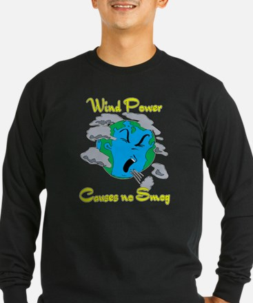 WInd power causes no smog.png Long Sleeve T-Shirt