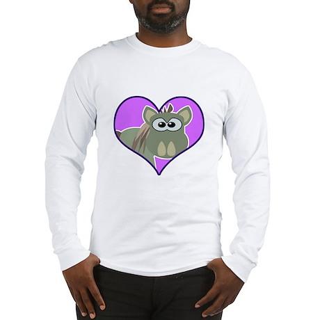 Cute Goofkins Donkey in Heart Long Sleeve T-Shirt