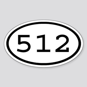 512 Oval Oval Sticker