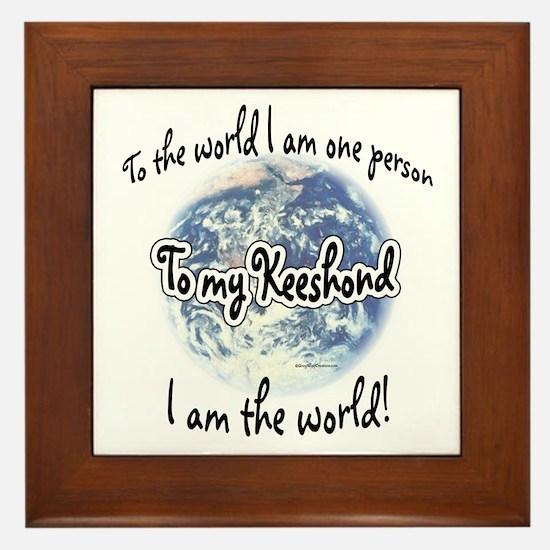 Keeshond World2 Framed Tile