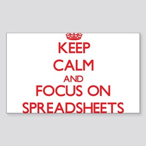 Keep Calm and focus on Spreadsheets Sticker