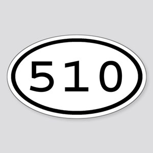 510 Oval Oval Sticker