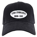 USS INDIANA Black Cap with Patch
