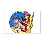 Witch Spider Moon Rectangle Car Magnet