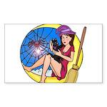 Witch Spider Moon Sticker