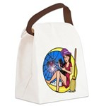 Witch Spider Moon Canvas Lunch Bag