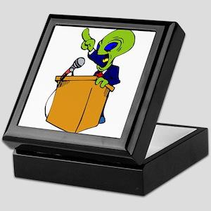 Alien Politician Keepsake Box