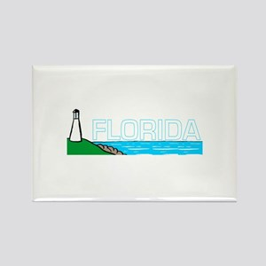 Florida Lighthouse (Dark) Rectangle Magnet