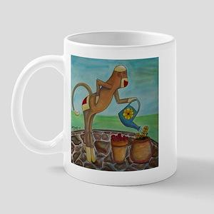 Garden Sock Monkey Mug