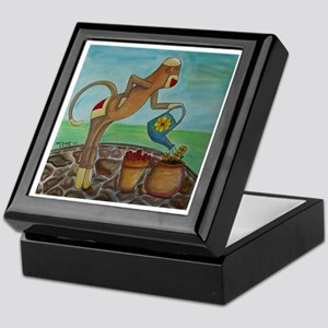 Garden Sock Monkey Keepsake Box