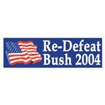 Re-Defeat Bush 2004 (bumper sticker)