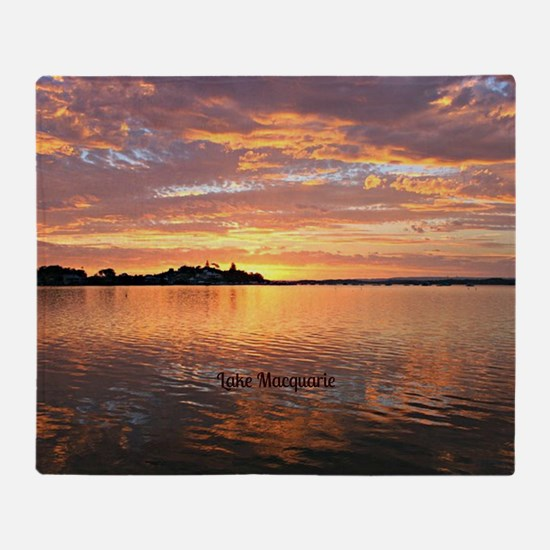 Lake Macquarie, New South Wales Throw Blanket