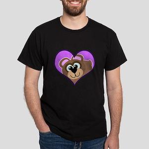 Cute Baby Bear in Heart Dark T-Shirt
