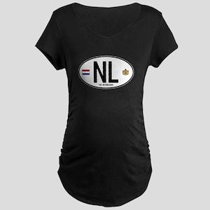 Netherlands Intl Oval Maternity Dark T-Shirt