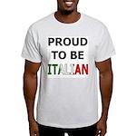 Proud to be Italian Ash Grey T-Shirt