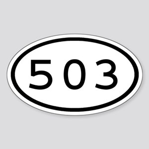 503 Oval Oval Sticker
