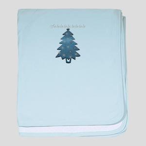 Cute Denim Christmas Tree baby blanket