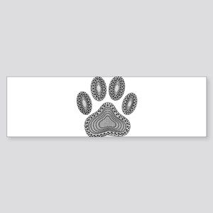 Tribal Dog Paw Print Bumper Sticker
