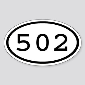 502 Oval Oval Sticker