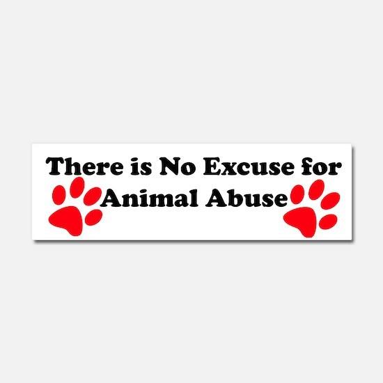 Cute Animal abuse Car Magnet 10 x 3