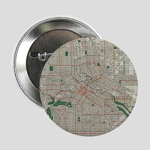 "Vintage Map of Minneapolis Minnesota 2.25"" Button"