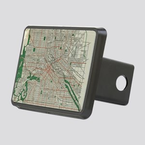 Vintage Map of Minneapolis Rectangular Hitch Cover