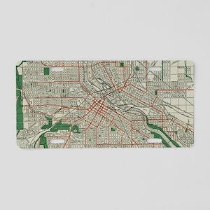 Vintage Map of Minneapolis Aluminum License Plate