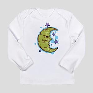 Green Crescent Moon Long Sleeve T-Shirt
