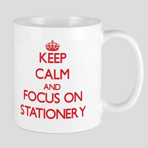 Keep Calm and focus on Stationery Mugs