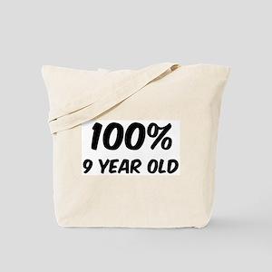 100 Percent 9 Year Old Tote Bag