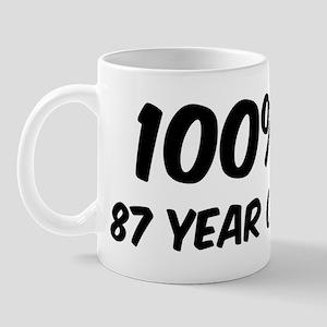 100 Percent 87 Year Old Mug