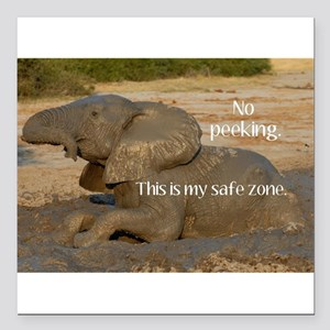 No peeking! This is my safe zone. Square Car Magne