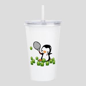 Tennis Penguin (4) Acrylic Double-wall Tumbler