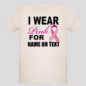 Breast Cancer i wear pink Organic Kids T-Shirt
