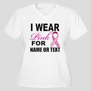 Breast Cancer i w Women's Plus Size V-Neck T-Shirt