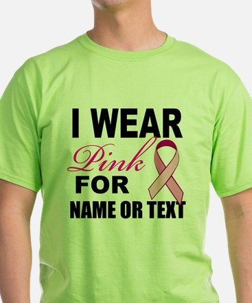Breast Cancer i wear pink T-Shirt