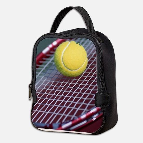 Tennis Ball & Racket Neoprene Lunch Bag