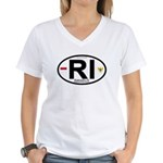 Indonesia Intl Oval Women's V-Neck T-Shirt
