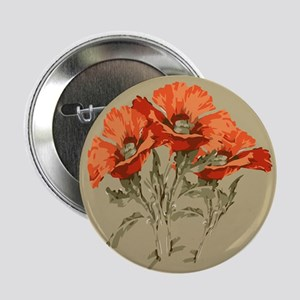 "Red Poppies 2.25"" Button"