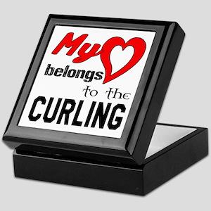 My Heart belongs to the Curling Keepsake Box
