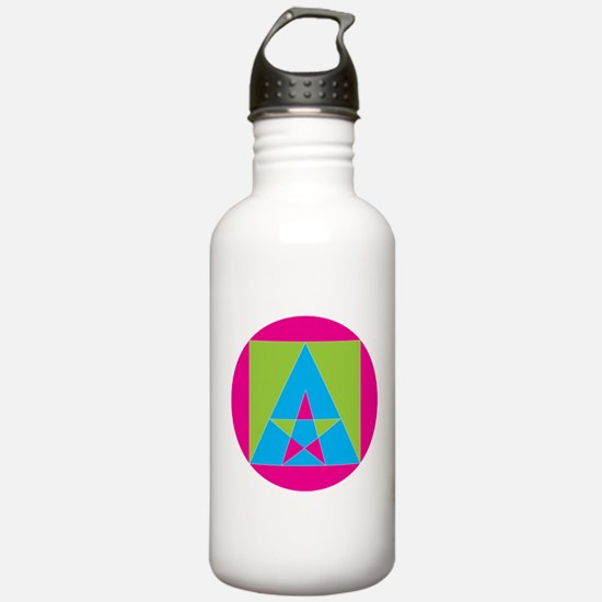 Cool Pink triangle Water Bottle